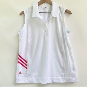 NWOT Adidas Climacool White Sleeveless Golf Shirt